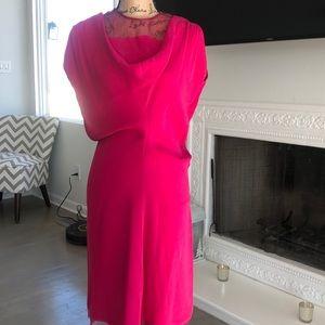 Ferragamo sleeveless silk dress midi